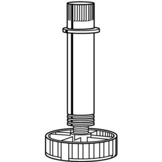 Hettich Sockelverstellfuß 061851 Kunststoffschwarz 100mm Bereich 89-125mm
