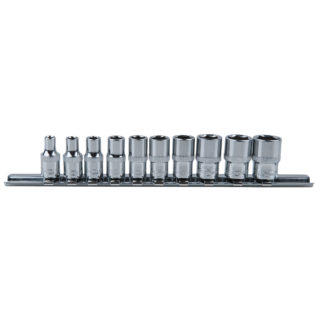 KS Tools 1/4″ CHROMEplus Sechskant-Stecknuss-Satz, 10-teilig 4-13mm 918.0620