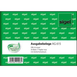 Sigel Einnahmebelege EB615, grün, A6 quer, Inh. 50 Blatt