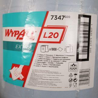Kimberly-Clark Putztuch Wypall L20 7347 blau 2lagig L.380 x B.330mm 1000 Abrisse