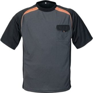 HTR Terrax T-Shirt Größe L dunkelgrau/schwarz/orange 50% PES/50% Cool Dry