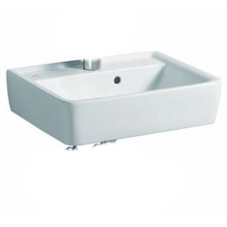 Geberit RENOVA Nr.1 PLAN Handwaschbecken ohne Hahnloch, mit Überlauf 400 x 250 mm weiß