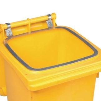 NUR ABHOLUNG – VAR Haltering für Müllgroßbehälter 240l Stahlblech Länge verzinkt