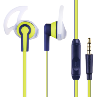 "hama In-Ear-Stereo-Headset ""Reflective"" Blau/Gelb 177017 Ohrhörer 3,5-mm-Klinke"
