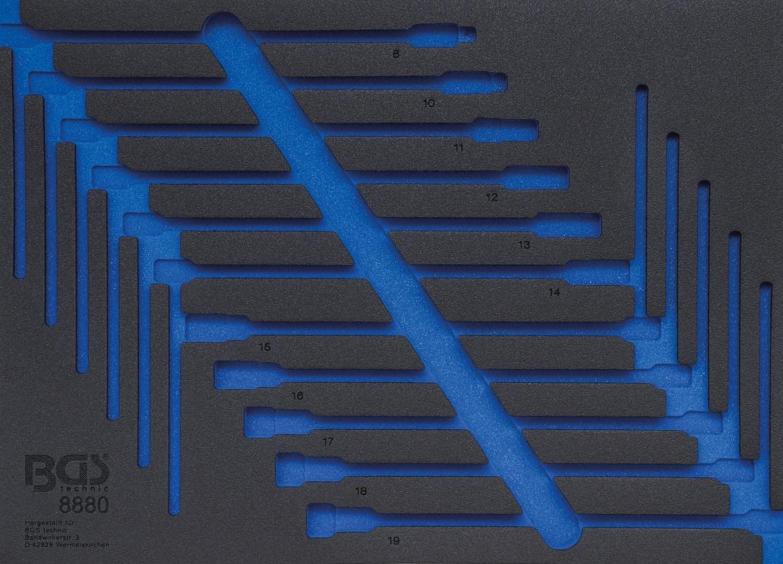 BGS Werkstattwageneinlage 3/3 | leer | für Art. 8880