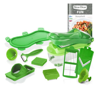 Genius Nicer Dicer Fun Croco Set 14-teilig, 1750 ml 34194