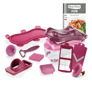 Genius Nicer Dicer Fun Hippo Set 14-teilig, 1750 ml 34195