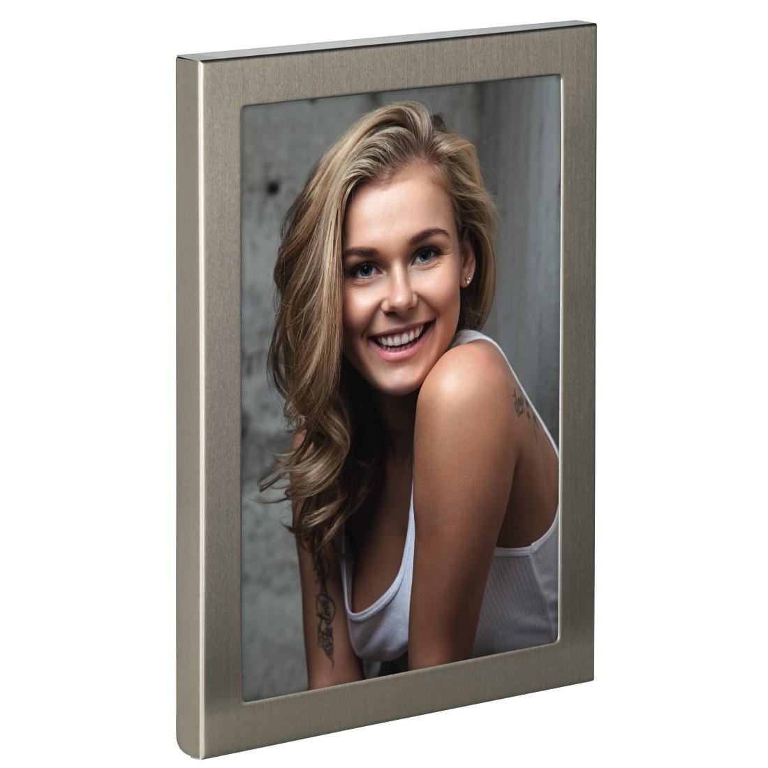 "hama Porträt-Rahmen für Foto ""Davos"", Titan-Optik, 10 x 15 cm 63734"